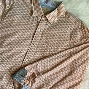 Tommy Bahama Button-Up Cotton Shirt Large